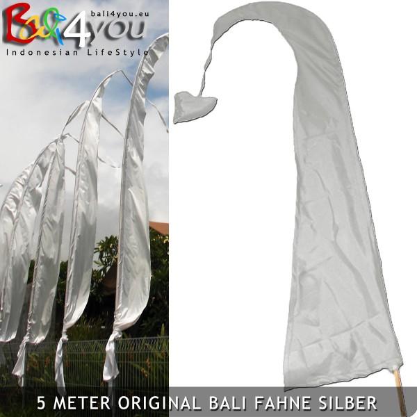 5m Bali Fahne Silver