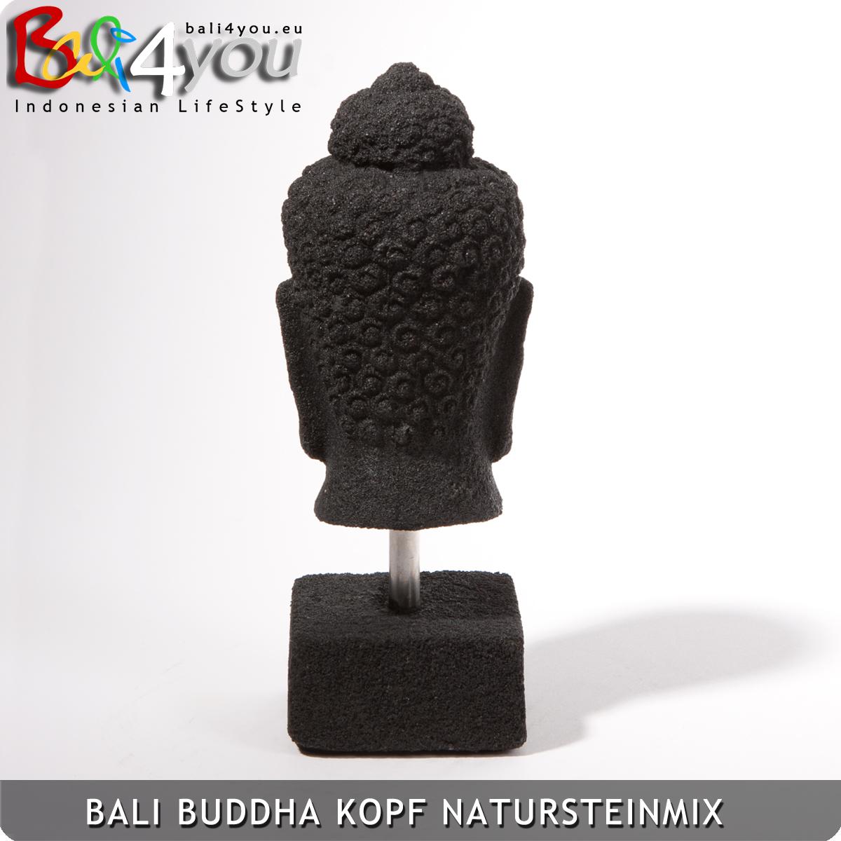Buddhakopf mit Sockel