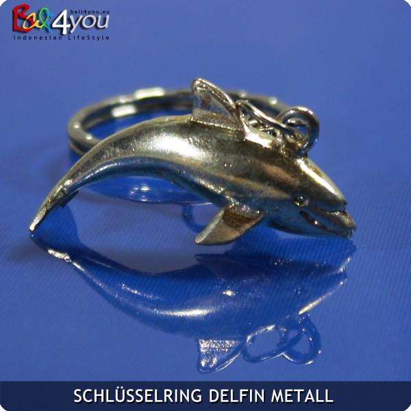 Metall Delfin Krafttier Schlüsselanhänger