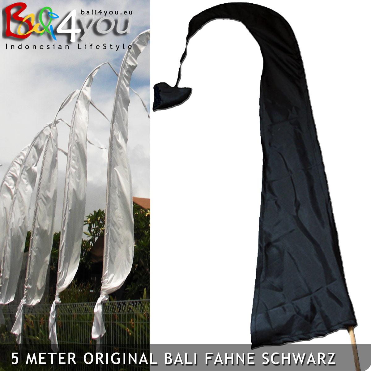 5m Bali Fahne Schwarz