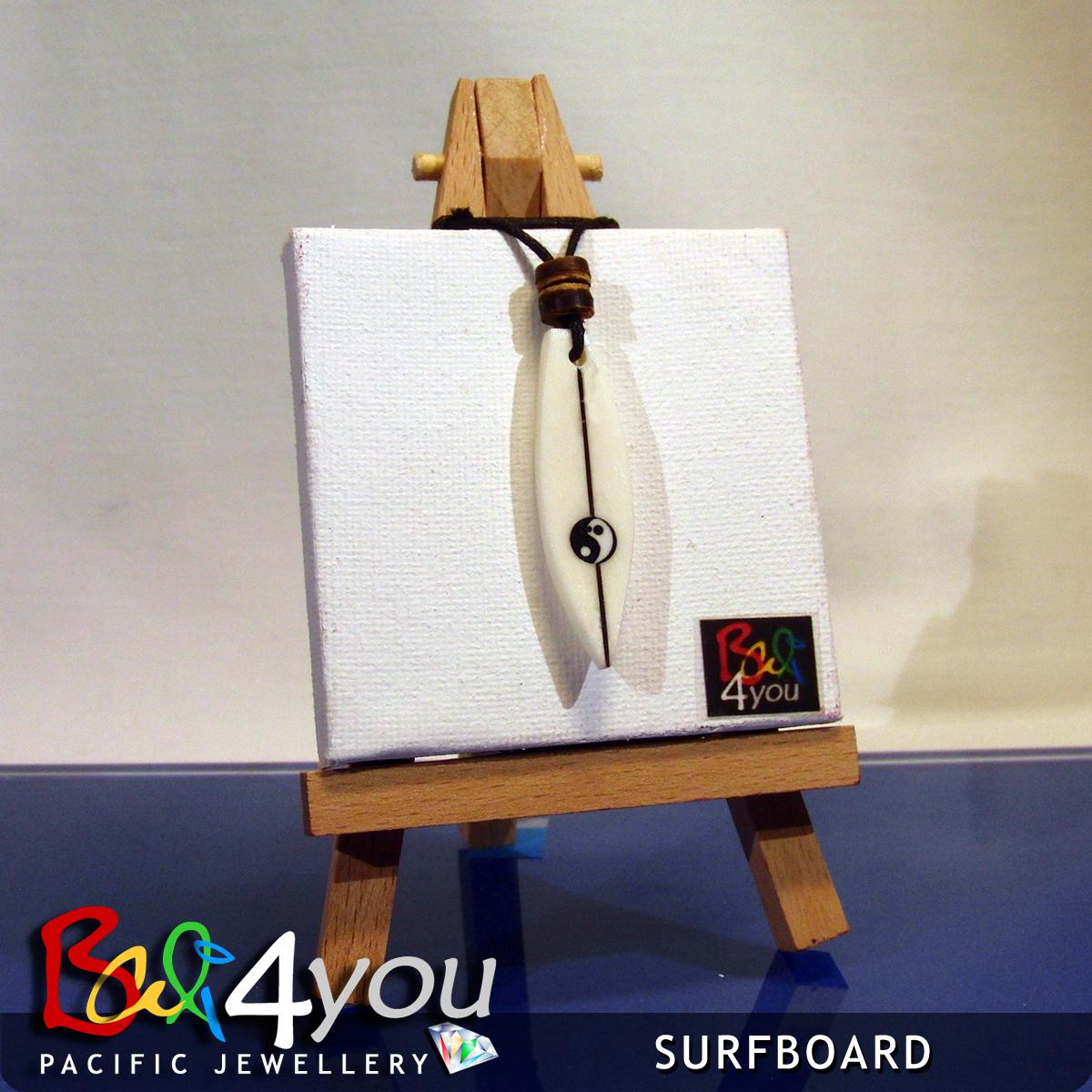 Bali Style Halskette Yin Yang Surfboard