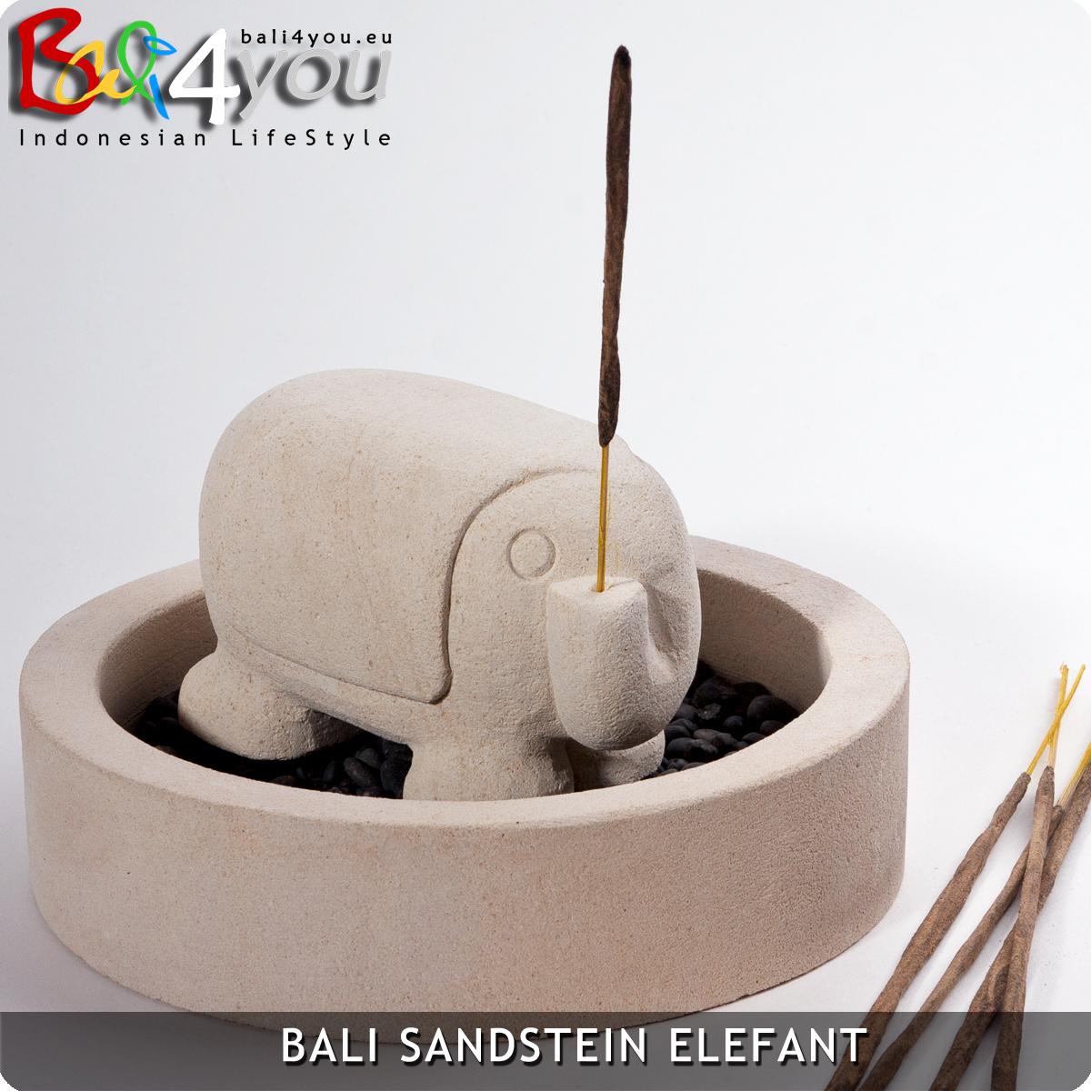Set: Elefant mit runder Schale