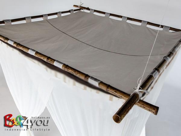 Baldachin Bali Style mit Cocos Knöpfen 160 x 200