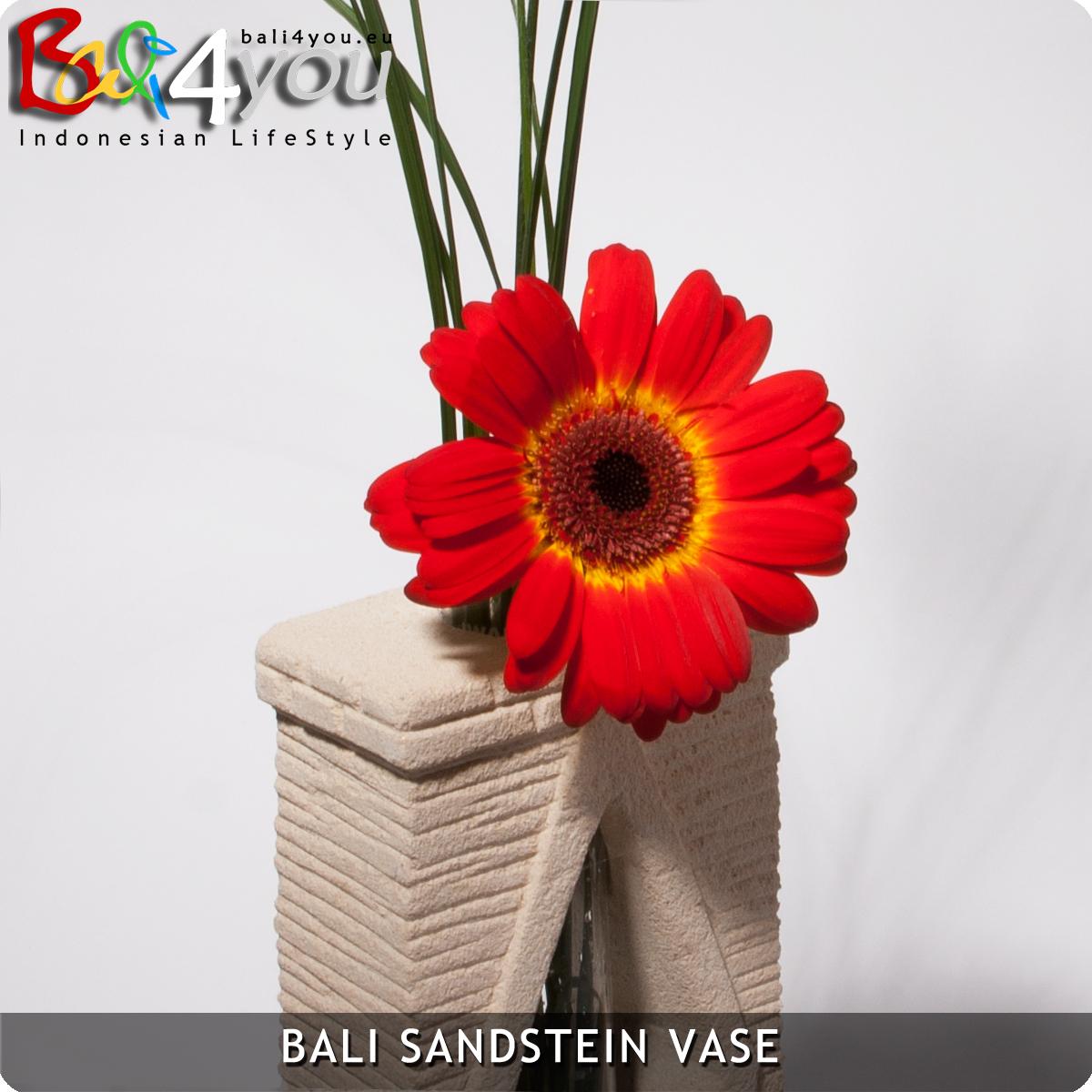 Sandstein Vase Solo