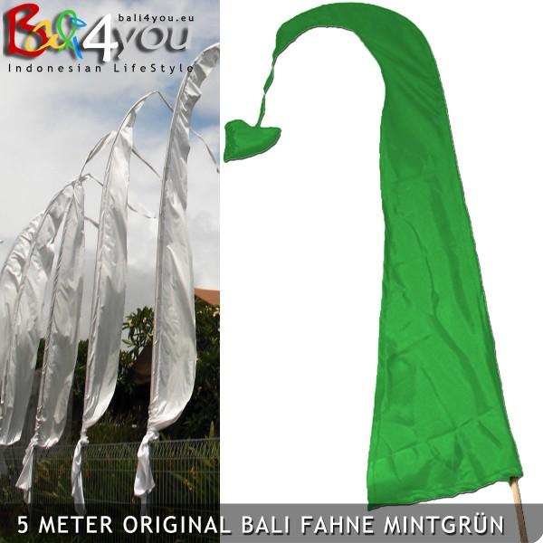 5m Bali Fahne Grün