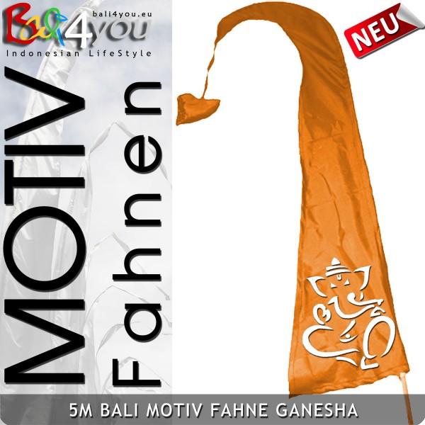 5m Bali Motiv Fahne bedruckt - Ganesha