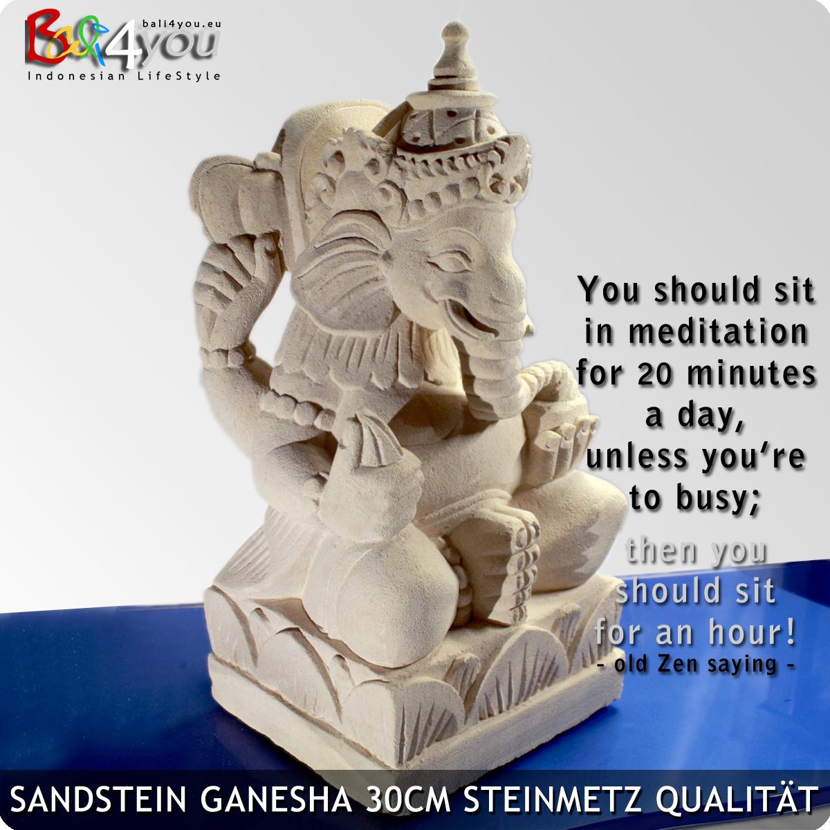 Sandstein Ganesha 30cm