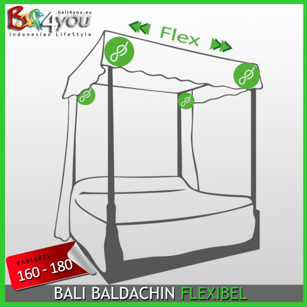 Baldachin Flex Set für Himmelbetten 2oo-22o x 200