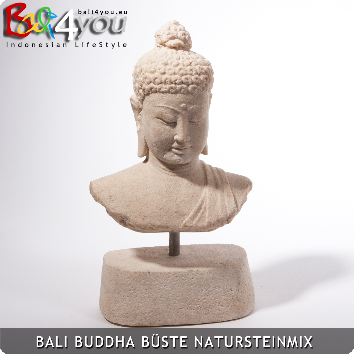 Buddha Büste Sand