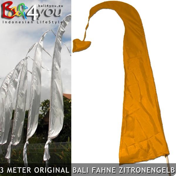 3m Bali Fahne Gelb