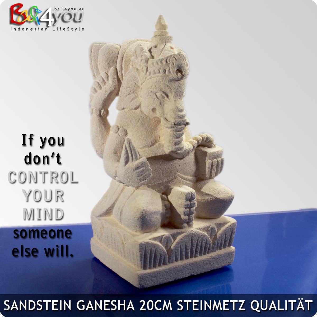Sandstein Ganesha 20cm