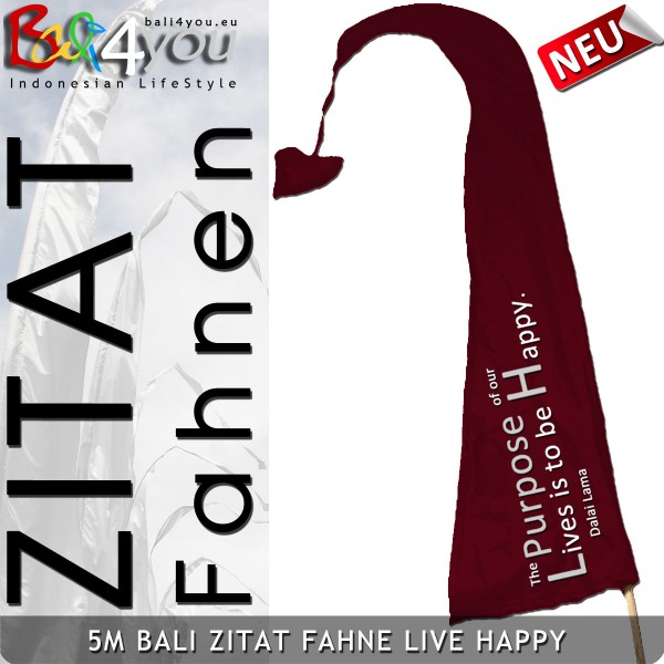 5m Bali Zitat Fahne - Live