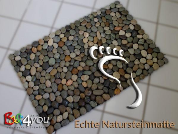 Naturstein Badematte Reflexzonen Massage