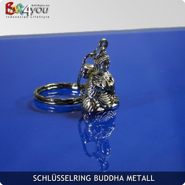 Metall Buddha Keyholder Schlüsselanhänger