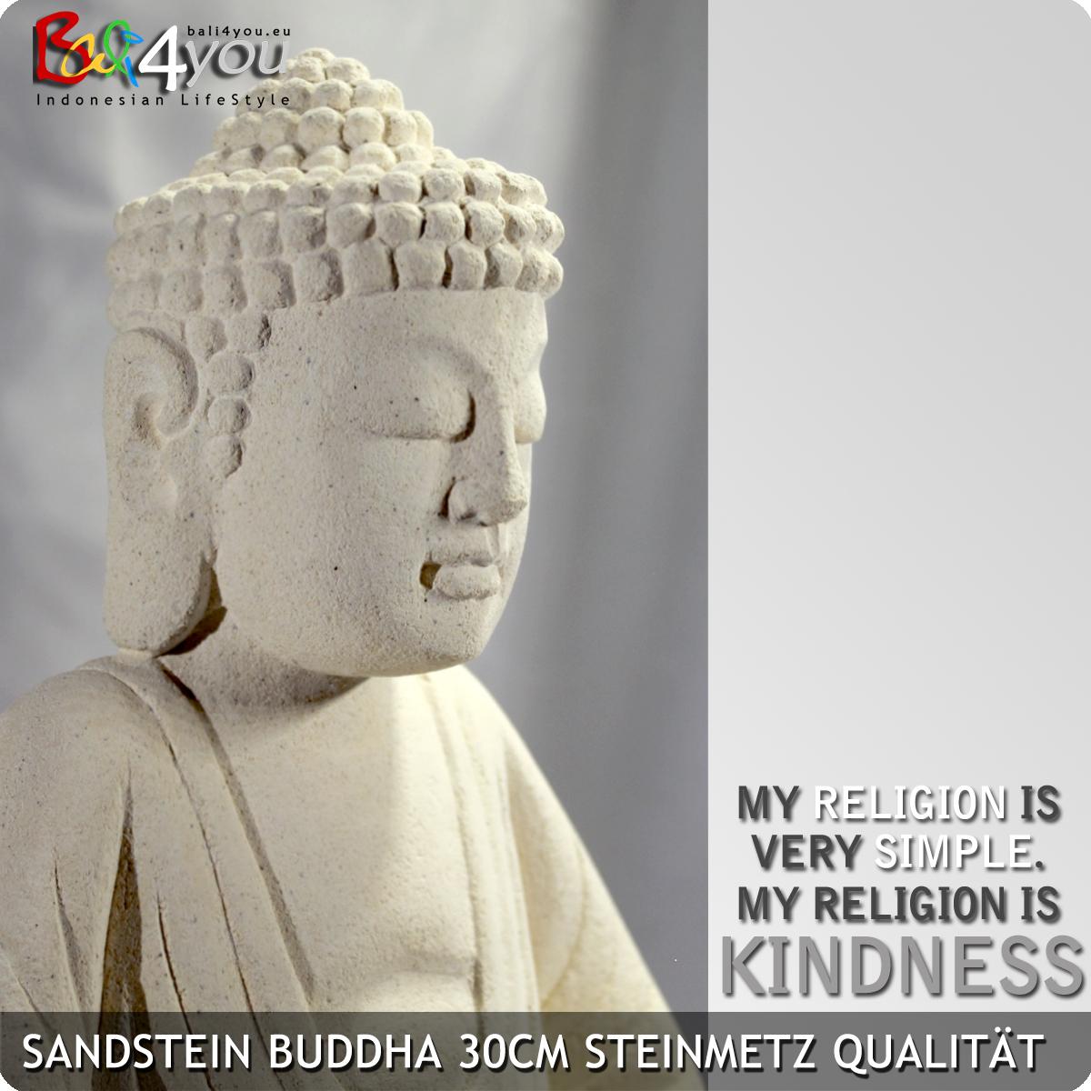 Sandstein Figur Dhyana Buddha 30cm