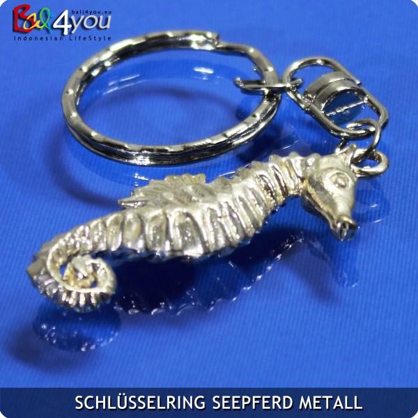 Metall Seepferdchen Krafttier Schlüsselanhänger