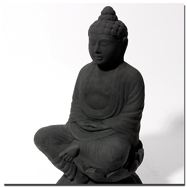 Buddha Figur Schwarz
