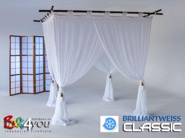 Baldachin Classic Brillantweiß SET 200 x 200
