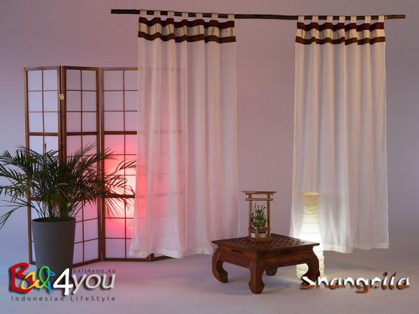 2er Set Schlaufenvorhänge Shangrila 130x200