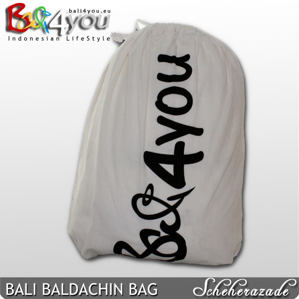 Baldachin Bali Style mit Coco 1 Punkt SET 80x80x200
