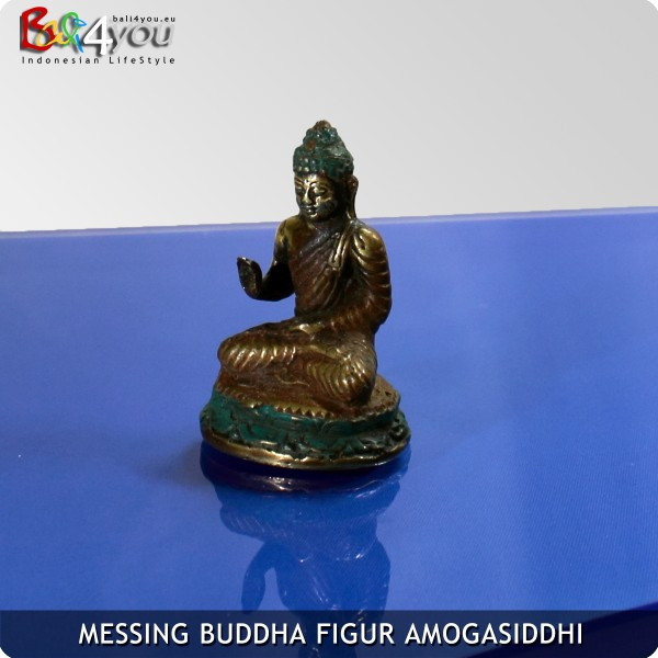 Messing Buddha Figur Amoghasiddhi