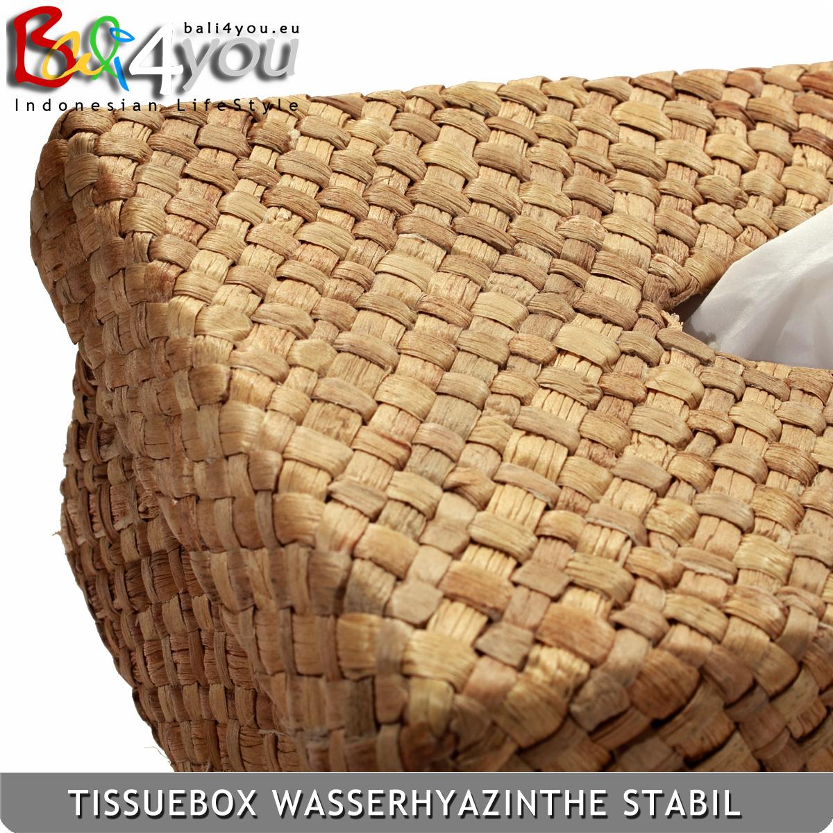 Exklusive Tissuebox Wasserhyazinthe