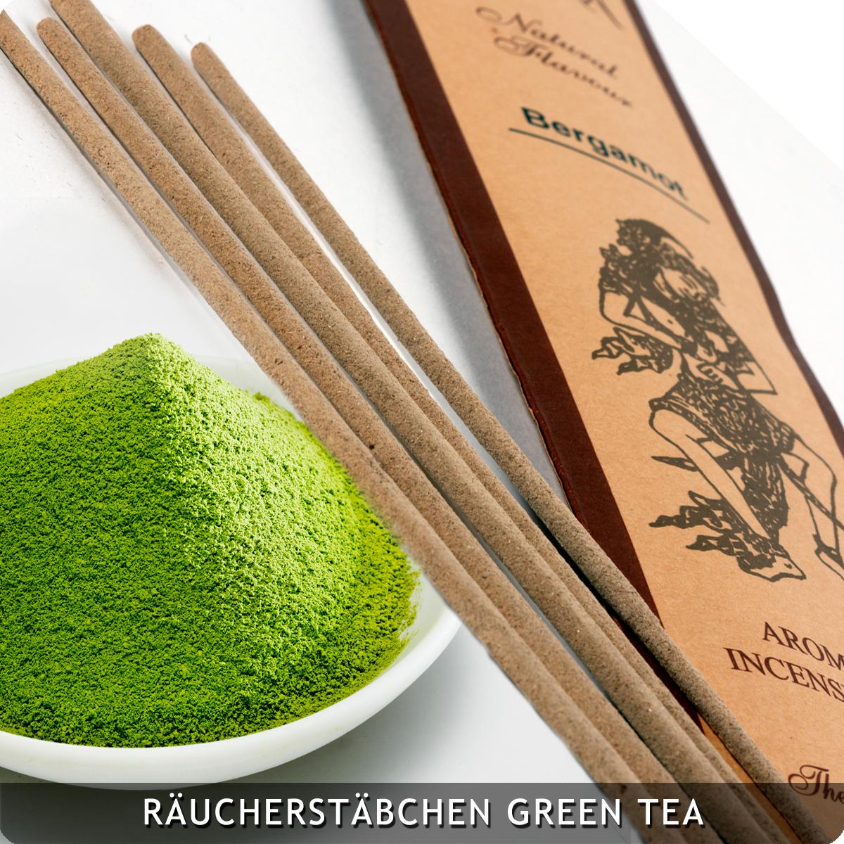 20 Räucherstäbchen Green Tea