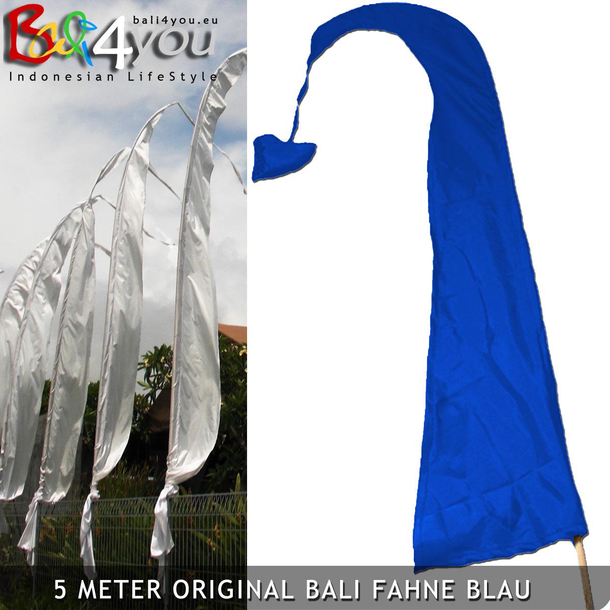 5m Bali Fahne Blau