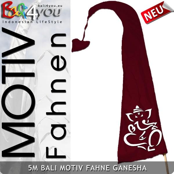 5m Bali Motiv Fahne - Ganesha