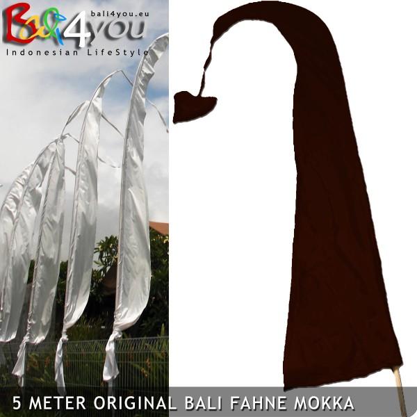 5m Bali Fahne Mokka
