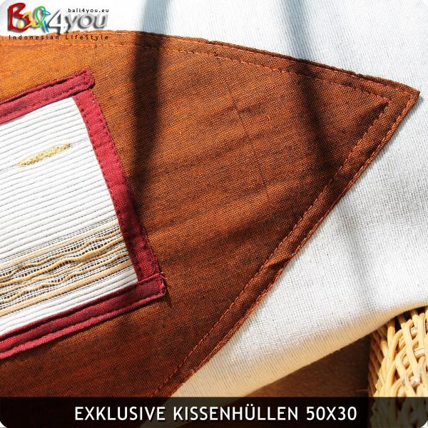 Leinen Kissenhülle 50x30 mit Sandelholz Inletts