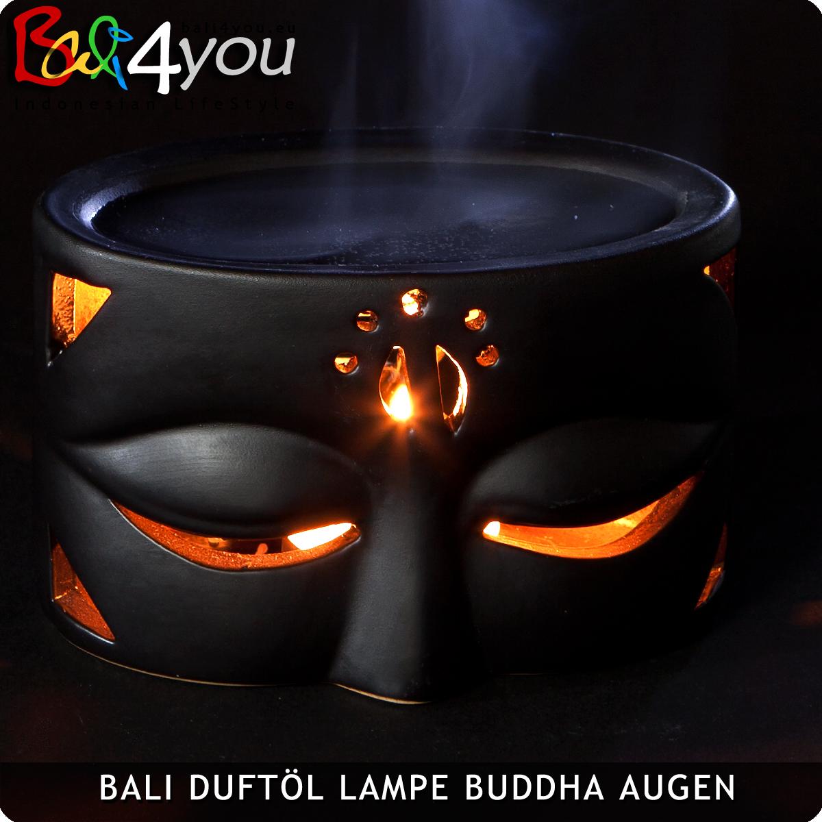 Duftöl Lampe Augen Buddhas Schwarz