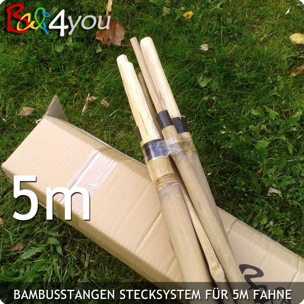5m Bambus Stecksystem