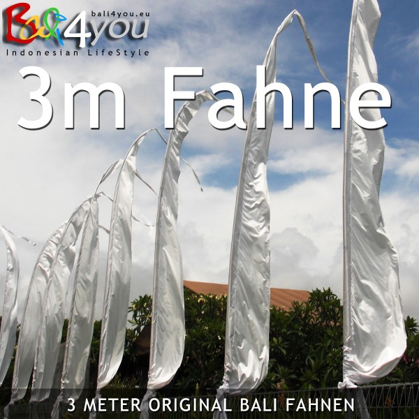 3m Bali Fahne Weiss