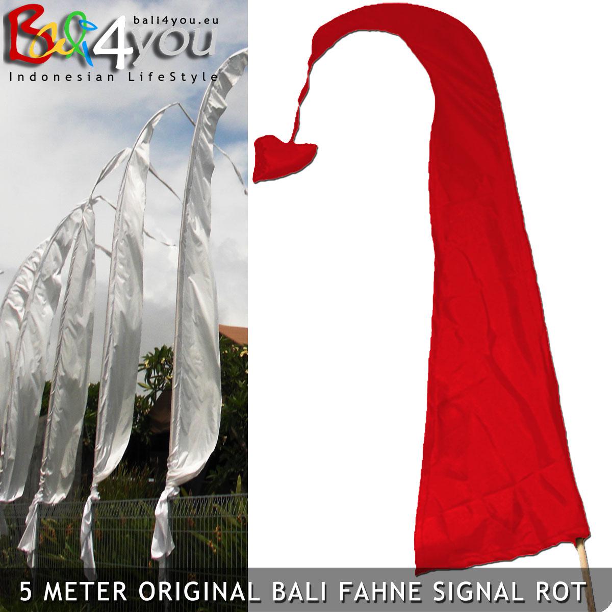 5m Bali Fahne Rot