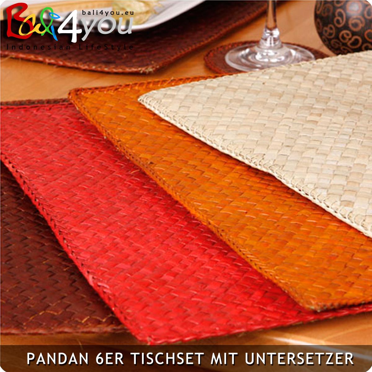 Pandan 6er Platzset / Tischset